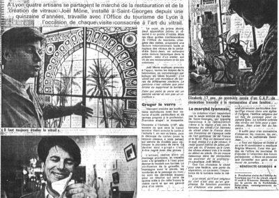 1990.04.11. - L'art du Vitrail, du religieux au profane - Le Progres