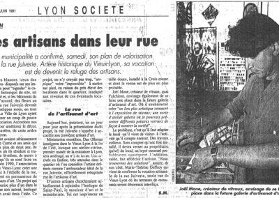 1991.01.12. - Des Artisans dans la rue - Lyon Figaro