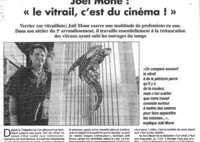 1995.08.19. - Joel Mone, Le vitrail c'est du cinema - Le Progres