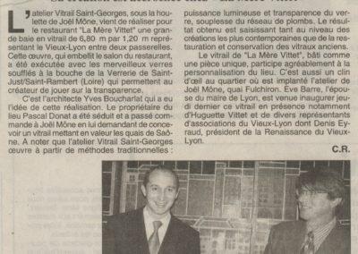 1998.11.14. - Le Vieux-Lyon en verre et en plomb - Le Progres