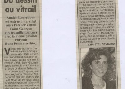 1999.05.19. - Du dessin au vitrail, Singapour - Le Progres