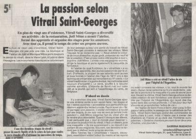 2000.09.14. - La passion selon Vitrail Saint-Georges - le Progrès