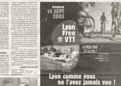 2003.06.01. - Barbizon et Saint-Georges unis par des Vitraux - Le Progres