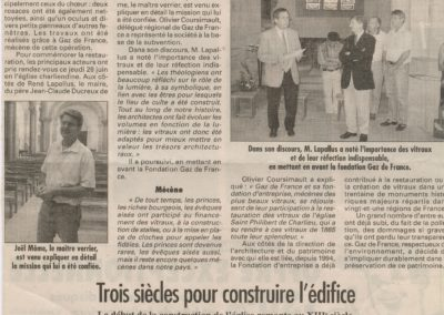 2003.06.25. - Charlieu, les vitraux de l'eglise Saint-Philibert restaures - Le Progres