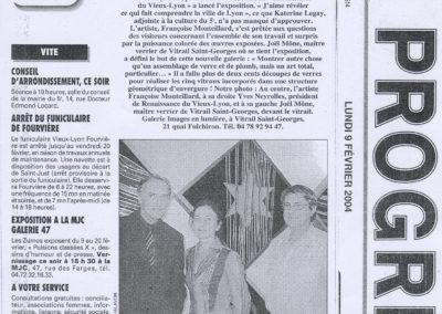 2004.02.09. - Un vitrail inspire de l'Apocalypse - Le Progres