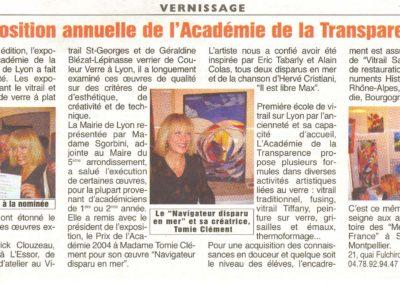 2004.06.25. - Exposition annuelle de l'Academie de la Transparence - l'essor
