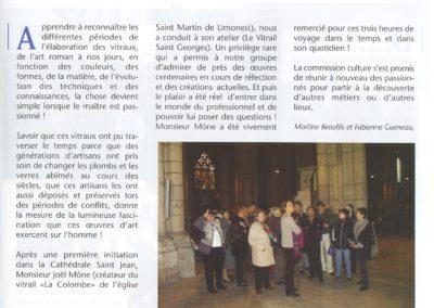 2004.09.12. - A la decouverte du vitrail - Gazette Limonest