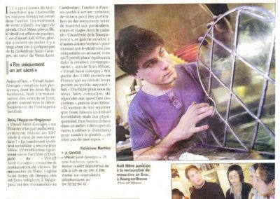 2004.10.16. - Les metiers d'Arts font miroiter le verre - Le Progres