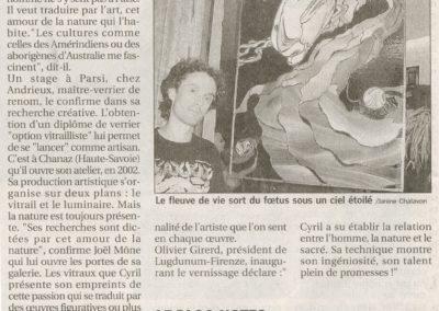 2004.11.06. - Cyril Sixdenier et la magie du verre - Le Progres