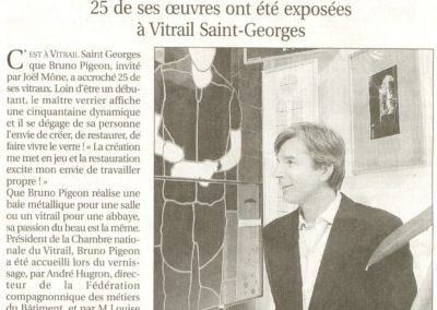 2005.02.03. - Article du progres Vernissage bernard pigeon