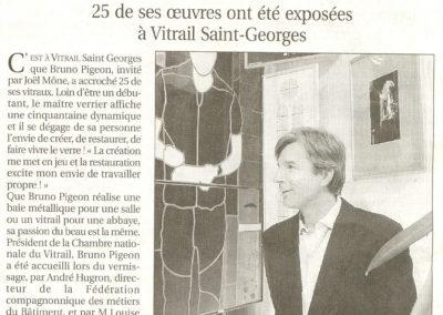 2005.03.03. - Bruno Pigeon Maitre verrier passionne ! - Le Progres