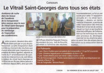 2007.07.20. - Le vitrail Saint-Georges dans tous ses etats - ESSOR