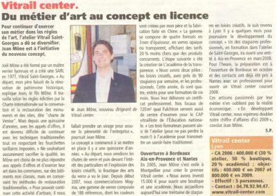 2007.10.01. - Du Metiers d'art au concept de License - le journal des entreprises