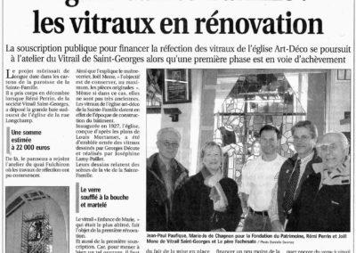 2009.02.24. - Eglise Sainte-Famille Les vitraux en renovation - Le Progres