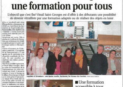 2009.03.01. - Vitrail Saint-Georges Une formation pour tous - Le Progrès