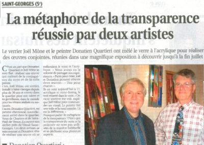 2009.04.05. - La métaphore de la Transparence - Le Progrès