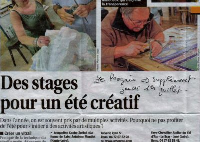 2010.07.01. - Des stages pou run ete creatif - Le Progres