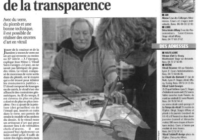 2010.12.23. - Le vitrail ou l'art de la transparence - Le Progres