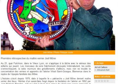 2011.03.16. - Le vitrail à l'honneur, l'atelier des Mone