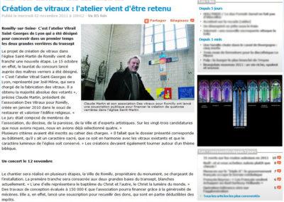 2011.11.02. - Creation des vitraux - l'atelier vient d'etre retenu