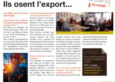 2011.12.01. - Ils osent l'export - Rhone Metiers