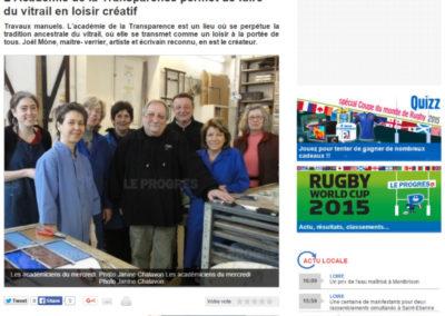 2013.03.19. - Le Progres - Academie - Academie de la transparence - RASSEMBLE