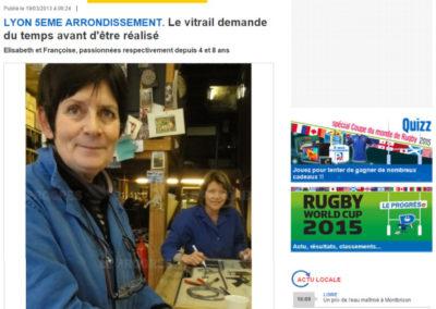 2013.03.19. - Le Progres - Academie - Le vitrail demande du temps - RASSEMBLE
