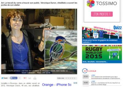 2015.08.19. - Le Progres - Veronique Duron Vitraux - RASSEMBLE