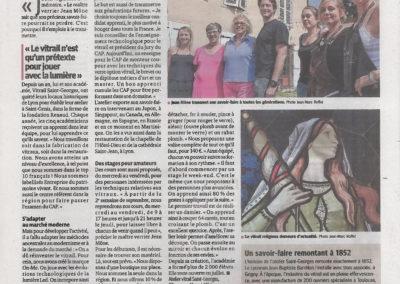 2015.09.18 - Le Progres - L'atelier Vitrail Saint Georges veut transmettre sa passion