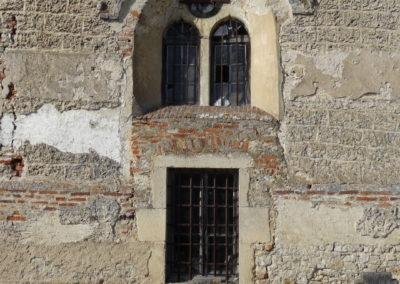 Neublant-Abergement - Eglise St-Etienne - Baie en création de la sacristie - Avant extérieur