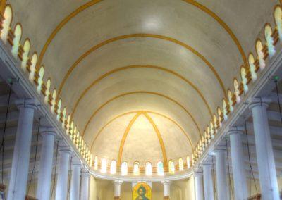 Saint-Pierre- Martinique - Cathédrale du Mouillage - Vue d'ensemble intérieur