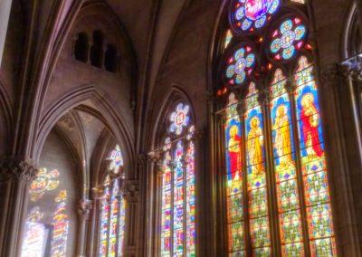 Mulhouse - Temple St-Etienne - Façade occidentale - Restauration - Vitraux - Vue d'ensemble intérieur avant restauration
