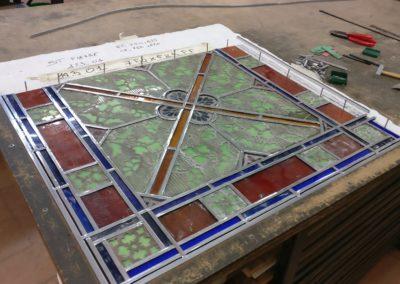 Saint-Pierre- Martinique - Cathédrale du Mouillage - restauration complète des vitraux en atelier