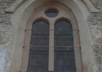 Neublant-Abergement - Eglise St-Etienne - Baie en création de la sacristie - Après extérieur