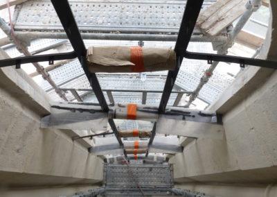 Velars-Sur-Ouche - Notre-Dame de l'étang - Création géométrique 01 pose des barlotières en forme