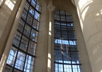 Velars-Sur-Ouche - Notre-Dame de l'étang - Création géométrique - vue intérieur après pose