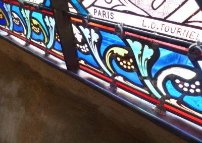 Vitry-sur-Seine - Eglise St-Germain - Bavette d'évacuation avec plomb armée en bas de panneau