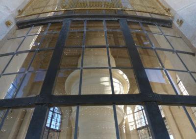 Velars-Sur-Ouche - Notre-Dame de l'étang - Création géométrique - rendu pendant la pose des grillages en laiton en forme