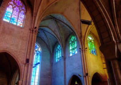 Romilly-sur-Seine - Eglise St-Martin - Création de vitraux par Joël Mône réalisé par l'atelier Vitrail Saint-Georges - Transept Nord - Nord-Est
