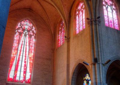 Romilly-sur-Seine - Eglise St-Martin - Création de vitraux par Joël Mône réalisé par l'atelier Vitrail Saint-Georges - Transept Sud- Sud-Ouest